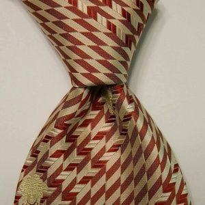 GIANNI VERSACE Men's Silk Necktie MEDUSA Red EUC